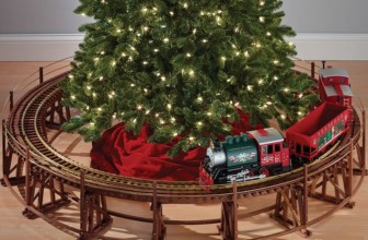 The Manhattan Railway Christmas Tree Train Trestle
