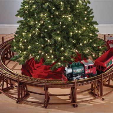 The Manhattan Railway Christmas Tree Train Trestle