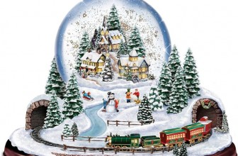 Thomas Kinkade Home for the Holidays Snowglobe Lights Motion and Music