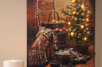 Traders Doug Knutson Lighted Country Christmas Canvas
