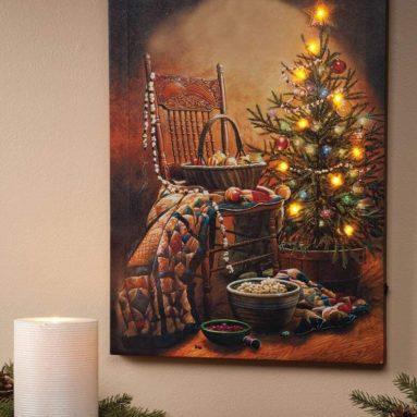 Traders Doug Knutson Lighted Country Christmas Canvas