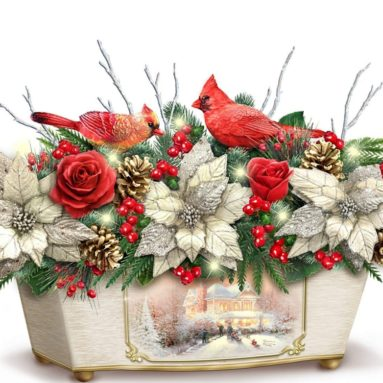Treasures Of The Season Always In Bloom Holiday Table Centerpiece