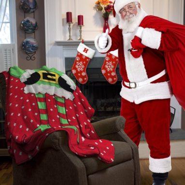 Ugly Christmas Elf Micro Plush Throw