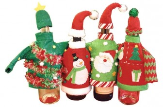Ugly Sweater Wine Bottle Covers Christmas Decor