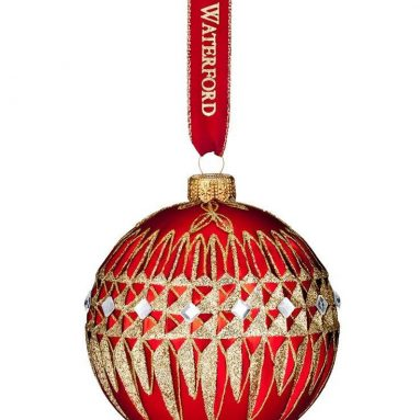 Waterford HH Lismore Diamond Ball Ornament