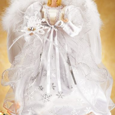 White Snowflake Angel Christmas Tree Topper