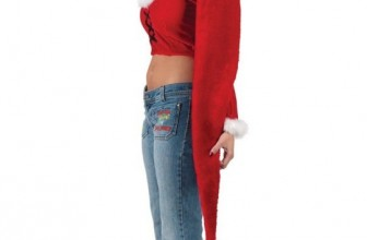 Women's Adult Long Santa Hat