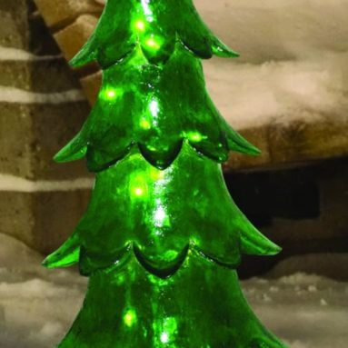 Illuminated Fiberglass Alpine Tree