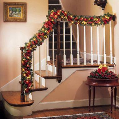Lighted Christmas Ornament Garland