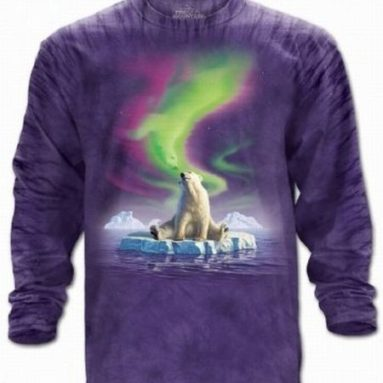Polar Vision Bear Long Sleeve Adult Tee T-shirt