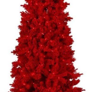 Red Flocked 650 Red Lights