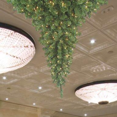 Chandalier Upside Down Christmas Tree