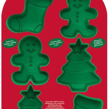 Cavity Silicone Stocking, Boy and Tree Mold Pan