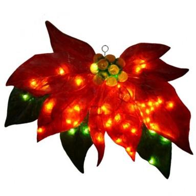 Barcana 30-Inch Illuminated Fiberglass Poinsettia Christmas Light
