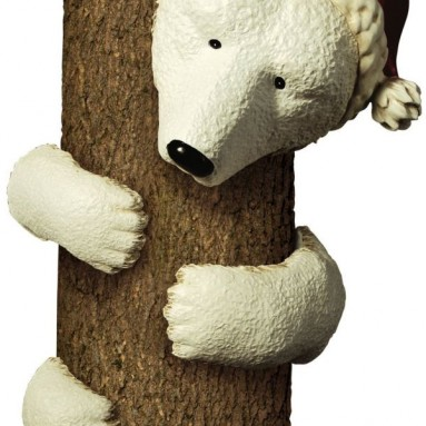 Vintage Chic Outdoor 5-Piece Polar Bear Tree Hugger