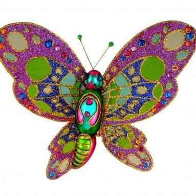 Butterfly Jeweled Glass Ornament
