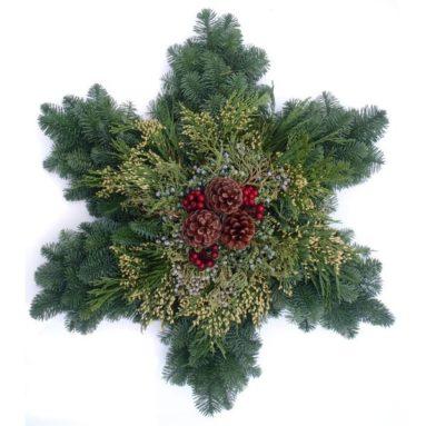 Holiday Snowflake Wreath 24″