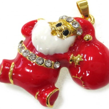 USB Flash Drive 8gb 2.0 High Speed Bling Santa Claus Red