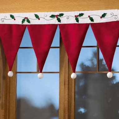Santa Hat Valance Christmas Decorating