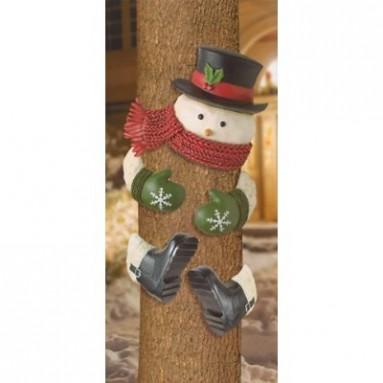 Wonder Snowman with Top Hat Outdoor Tree Hugger