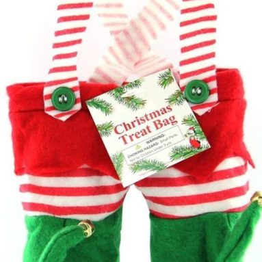 Christmas Elf Pants Treat Bag