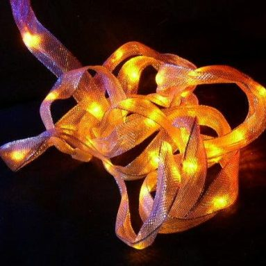 Ribbon Lights LED BATTERY YELLOW Fairy Lights