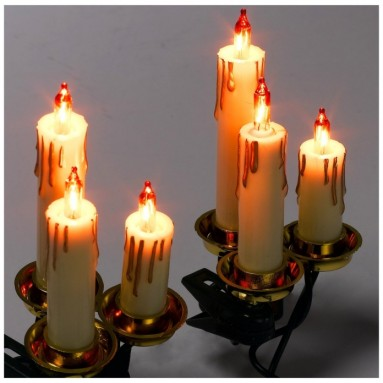 15-Light Triple Candle Light Set with Ivory Candle Shaft
