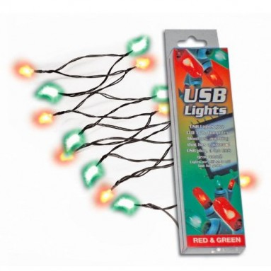 USB Lights – Red & Green