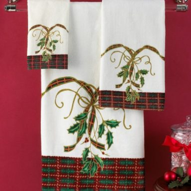 Lenox Holiday Nouveau Hand Towel Only