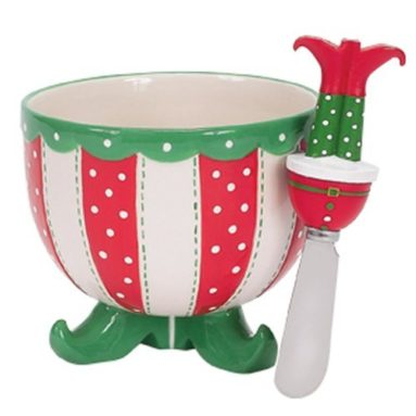 Boston Warehouse Happy Holiday Feet Dip Bowl