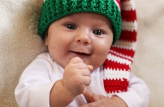 Christmas Holiday Crochet Baby Hat