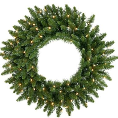 12′ Pre-Lit LED Camdon Fir Commercial Artificial Christmas Wreath