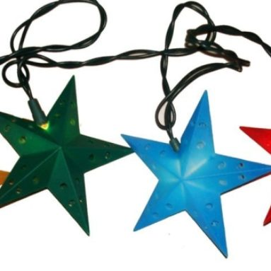 Indoor/Outdoor UL 10-Light Color Star Light Set