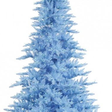 Vickerman Sky Blue Fir Tree with Blue Lights