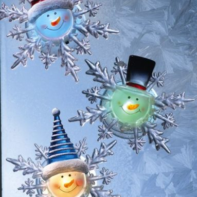 Changing Suction Cup Holiday Window Snowflakes