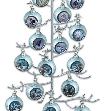 Silver Wire Ornament Tree Display by The Bradford Exchange