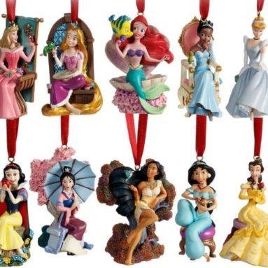 Limited Edition 2011 Disney Princess Christmas Ornament Set