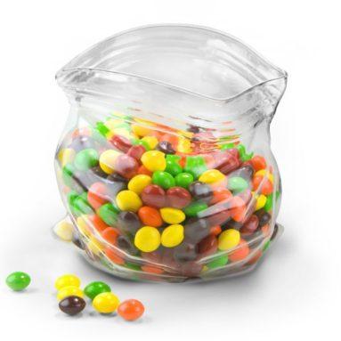 Unzipped-Bag-Shaped Hand-Blown Glass Bowl