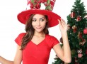 Multicolor and Knitted fabric Top Hat christmas