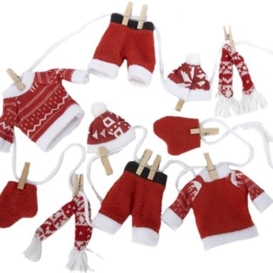 Felt Winter Clothing Garland