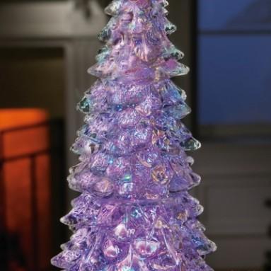 Color Changing Crystalline Acrylic Christmas Tree