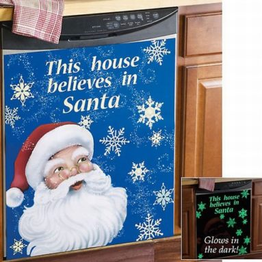 Santa Claus Christmas Dishwasher Cover Magnet