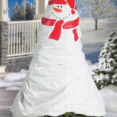 Snowman Design Outdoor Bush and Shrub Cover Bag