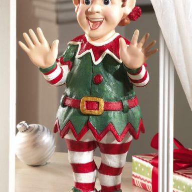 Christmas Santa's Elf Window Peeper Decoration