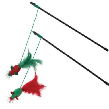 Holiday Mouse Wands Cat Toy