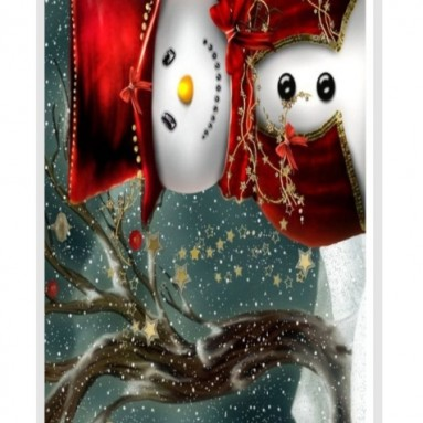 Holidays Snowman Case Cover for iPhone 5