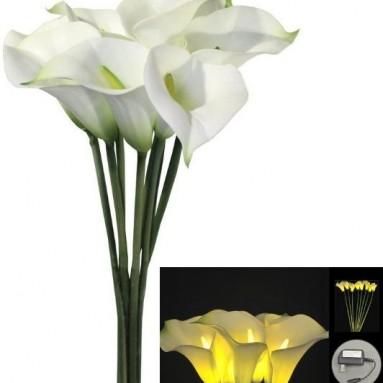 Floral Lights Lighted Calla Lily Flower Stem